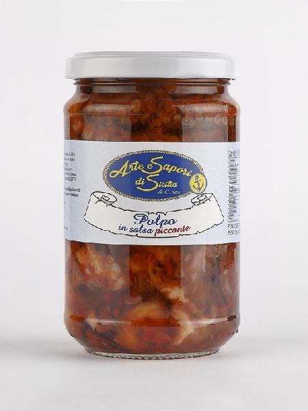 Polpo in olio in salsa piccante