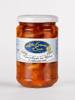 Gamberi in Olio in salsa piccante